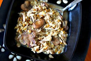 Receta de Saladmaster - Guiso de Cerdo, Lentejas y Cebada