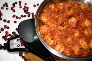 Receta de Saladmaster - Albóndigas de Pavo con Salsa de Arándanos