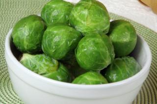Receta Saladmaster Coles de Bruselas Frescas      Cooked
