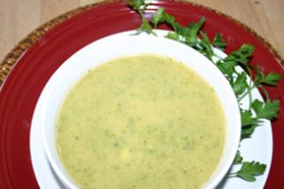 Crema de Brócoli con Yogur y Menta