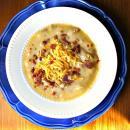 Receta de Saladmaster - Sopa de Papas y Puerro con Queso