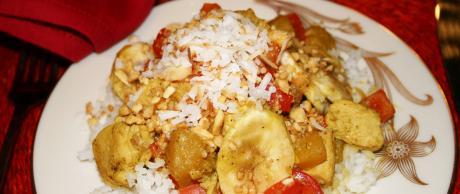 Receta de Saladmaster, Pollo al Curry con Coco