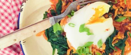 Sweet Potato Eggs, Skillet Breakfast
