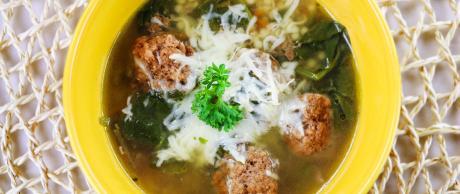 italian, wedding, soup, meatballs, beef, pasta