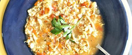 Receta de Saladmaster - Sopa Saludable de Pollo y Cebada