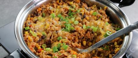Easy Rice Casserole, Mexican Casserole, One Skillet Meal