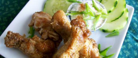 Alitas de Pollo al Chipotle con Salsa de Lima