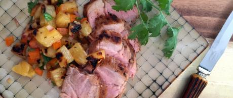 Smoky pork tenderloin for an outdoor barbecue