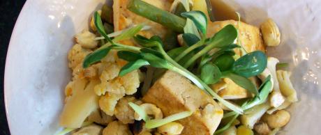 Tofu & Verduras con Naranja y Jengibre