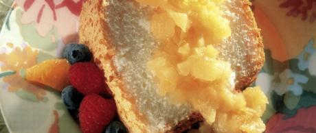 Receta de Saladmaster - Pastel de Cabello de Ángel con Salsa de Piña