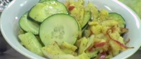 Receta Saladmaster Ensalada de Manzana, Pera y Pepino