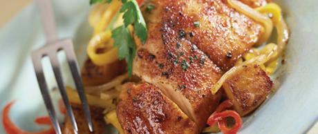 Receta Saladmaster Pollo y Pimientos