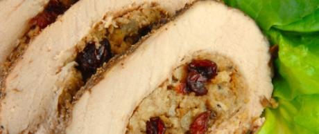 Receta de Saladmaster - Chuletas de Lomo de Cerdo Rellenas de Manzana
