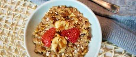 oatmeal, strawberries, banana, healthy, oats