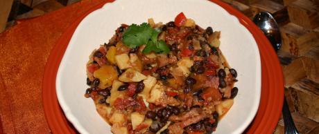 Cocido Brasileño con Judías Negras y Mango