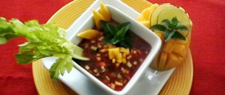 Receta Saladmaster Gazpacho de Mango